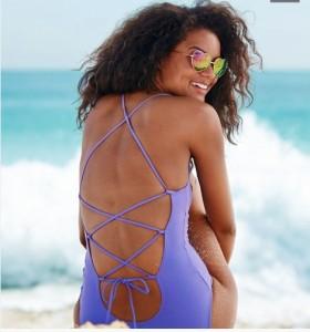 Aerie Cross-Back One-Piece Swimsuit